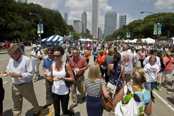 Opening day of Taste of Chicago in 2010.