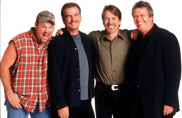 "CMT's first animated series, ""Bounty Hunters,"" featuring the voices of jeff Foxworthy, Bill Engvall and Larry the Cable Guy."