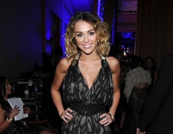 Actress/singer Miley Cyrus backstage during Muhammad Ali's Celebrity Fight Night XIII held at JW Marriott Desert Ridge Resort & Spa March 24, 2012 in Phoenix, Arizona.