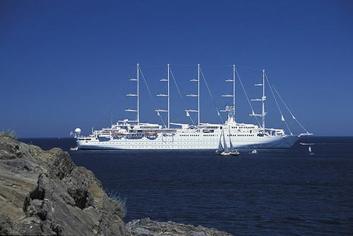 Windstar Cruises offers Mediterranean cruises all summer long. The 308-passenger Wind Surf is anchored off Colliourre, France in this 2004 file photo.