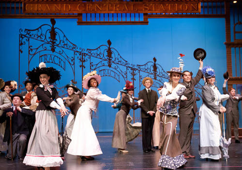 Parkland High School rehearses their Freddy award entry, 'Hello Dolly' on Tuesday night. The play runs Thursday to Saturday this weekend, April 12th through April 14, 2012.