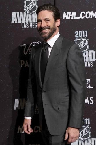 """Mad Men"" star Jon Hamm arrives at the Palms Casino Resort in Las Vegas for the 2011 NHL Awards."