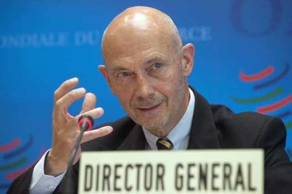 Pascal Lamy, director-general of the World Trade Organization, in Geneva on Thursday. Europe's sovereign debt crisis and other economic shocks are expected to slow the growth in global exports to just 3.7% in 2012, the WTO said.