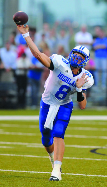 Highlands quarterback Patrick Towles, who will play for Kentucky next season, broke the school passing records held by former Kentucky quarterback Jared Lorenzen.