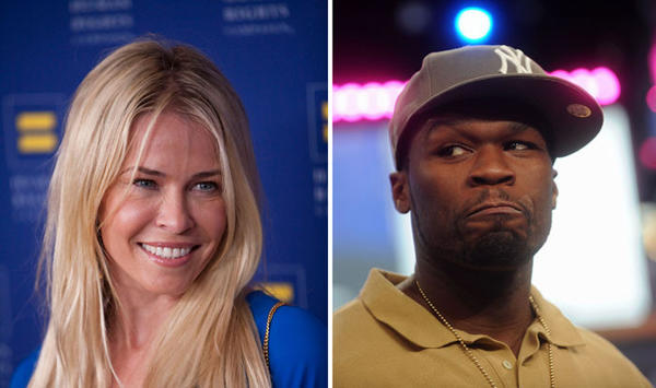 Hollywood's odd couples: The bizarre couple dated casually in 2011 until one of the rappers exes appeared on her show. When Fiddy told her she still had feelings for him, Ms. Handler broke it off. It was so juvenile, she said on the Howard Stern show. I was at work.