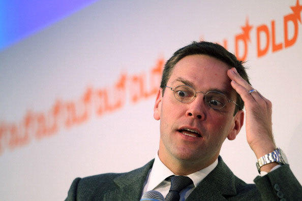 James Murdoch, son of Rupert Murdoch and Chairman and Chief Executive of News Corporation, Europe and Asia, looks on during the Digital Life Design (DLD) conference at HVB Forum on January 25, 2011 in Munich, Germany.