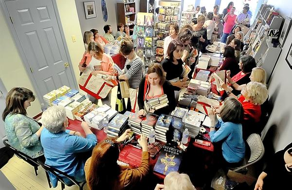 Nora Roberts will host her annual hard-cover book signing with Ruth Langan, Sophia Nash and other authors Saturday at Turn the Page Bookstore in Boonsboro.
