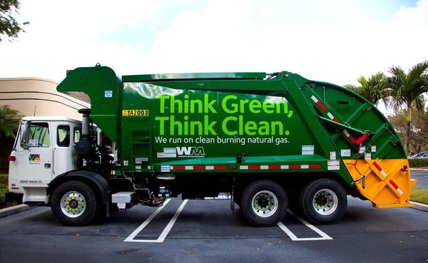 Waste Management of Broward County currently has 25 Compressed Natural Gas trucks with 25 more coming soon. These trucks run cleaner with less exhaust emissions and less noise. According to Waste Management they have the largest fleet of Compressed Natural Gas trucks in South Florida and more than 1,000 trucks nationwide.