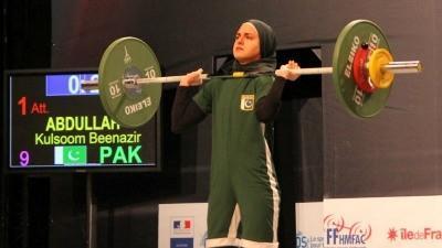 Kulsoom Abdullah at the 2011 World Weightlifting Championships (courtesy Kulsoom Abdullah)