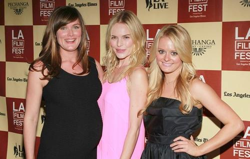 "Director Kat Coiro, left, and actresses Kate Bosworth and Fallon Goodson hit the red carpet at the Los Angeles Film Festival for the premiere of the <a href=""http://latimesblogs.latimes.com/movies/2011/06/bridesmaids-wiig-apatow-life-happens-kate-bosworth-coiro-bilson-krysten-ritter.html"" target=""blank"">""Bridesmaids""-style female comedy</a> starring Bosworth, Krysten Ritter and Rachel Bilson."