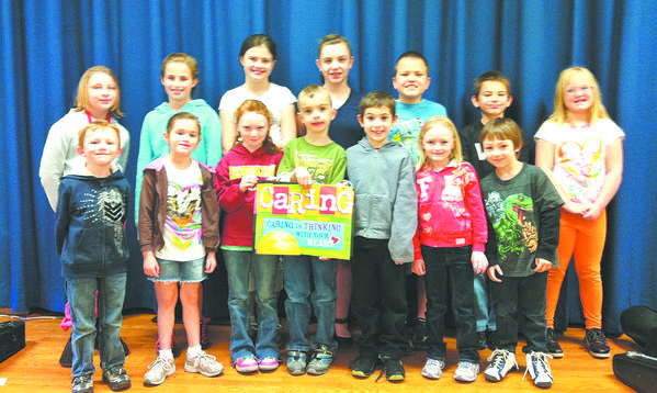 Sharpsburg Elementary School students named Character Counts! winners included, front row, left to right: Caleb Hull, Georgia Seward, Rebecca Seabolt, Cecil McLean, Samuel Baker, Taylor Williams, Devon Bond; back row, left to Right: Jessica Hahn, Kaitlin Cochran, Caitlin Fitzwater, Sarah Leggett, Dylan Giffin, Joseph Baker, Hailey Hammer
