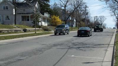 Petoskey city staff propose improvements to this section of Emmet Street between Michigan and State Streets.