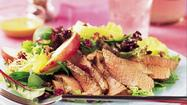 <strong>Sirloin Cranberry and Pear Salad with Honey Mustard Dressing </strong>