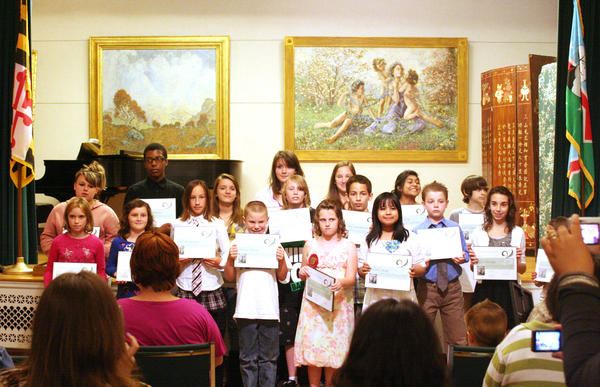 As part of the Washington County Public School exhibit, students receive recognition for their art work that is displayed at the Washington County Museum of Fine Arts.