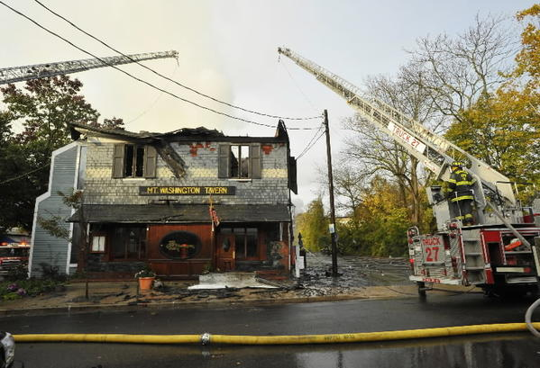 Mt. Washington Tavern after a fire last Halloween
