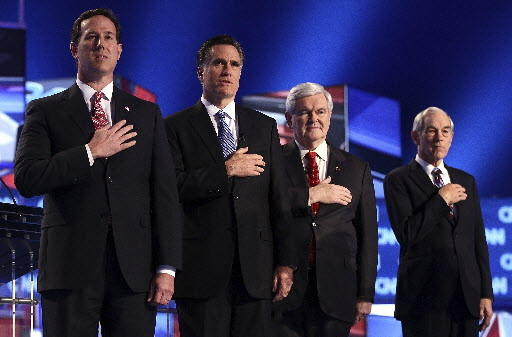 Santorum, Romney, Gingrich, Paul