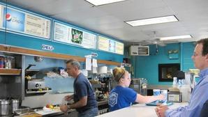 Bart's Offers Diner Food, River View