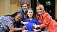 "THEATER REVIEW: ""Motherhood the Musical"" at the Royal George Theatre ★★ ... ""Is it going to hurt?"" the very pregnant young woman at the center of this show asks her trio of older, wiser friends. ""The delivery?"" comes the dry response, ""or the next 18 years?"""