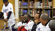 Photo Gallery:  L.A. Dodgers players visit Muir High School
