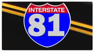 A large pothole has Interstate 81 South in Pulaski County down to one lane.