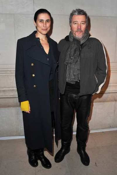 Jasmine Abdellatif and Philippe Starck attend the Louis Vuitton - Marc Jacobs: The Exhibition photo call as part of Paris Fashion Week at the Musee des Arts Decoratifs last month in Paris.
