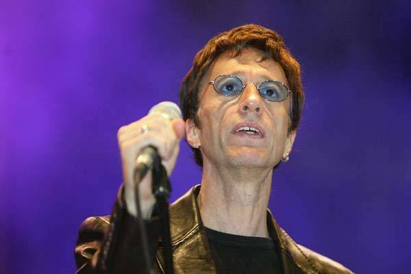 Notable deaths from 2012: Robin Gibb of The Bee Gees performs prior to an exhibition match between Steffi Graf and Gabriela Sabatini at the Max Schmeling Hall, on September 25, 2004 in Berlin, Germany.