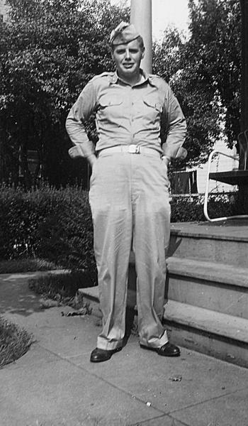 Billy Hose is shown in his Army Air Corps uniform in the late 1940s.