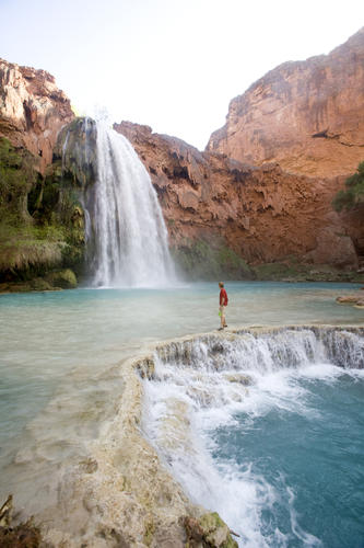 This section of the Grand Canyon is part of the Havasupai Indian Reservation and much less congested than the national park. A 10-mile hike down from the rim is rewarded with the breathtaking blue-green waters of Havasu Falls, a great place to get down on one knee. Stay in the campground or the lodge in Supai, then hike or helicopter out. Plan the trip yourself or let Arizona Outback Adventures handle the details. AOA's Brian Jump says several couples have become engaged in the canyon, and he has helped one plan a wedding there.