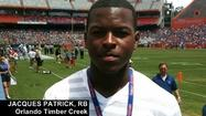 Florida State offers 2015  RB Jacques Patrick of Orlando Timber Creek