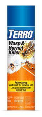 Terro Wasp and Hornet spray eliminates the entire nest.