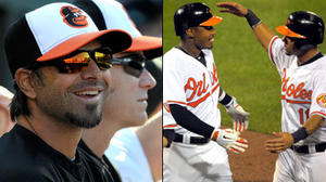Roberts mentoring Andino, Jones in art of stealing bases