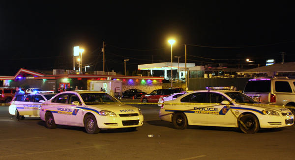 Scene of a homicide early Sunday morning at Club Horizons. Police units from Bethlehem, Whitehall and the State Police assisted Allentown police department on the scene following the shooting which resulted in to a large fight outside the club. Teddy Bell a 33-year-old Brooklyn man was killed and another man wounded in the shooting.
