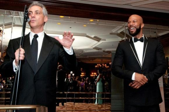 Rahm Emanuel and Common