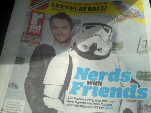 "The ""Nerdist"" Chris Hardwick was the Redeye cover boy!"