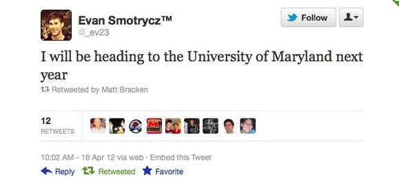 Evan Smotrycz picks Maryland