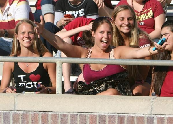 Photos: Florida State football fans and cheerleaders - FSU Spring Game
