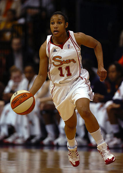 Ketia Swanier was taken No. 12 in the 2008 WNBA Draft.