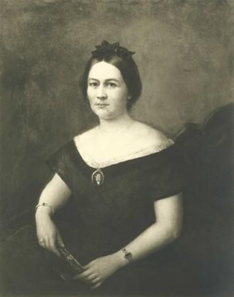 Portrait of a woman, alleged to be of Mary Todd Lincoln by Francis Carpenter, as it appeared in the New York Times in 1929.