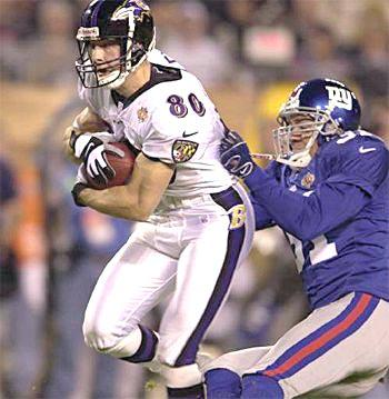 Wide receiver Brandon Stokley scores for the Baltimore Ravens.