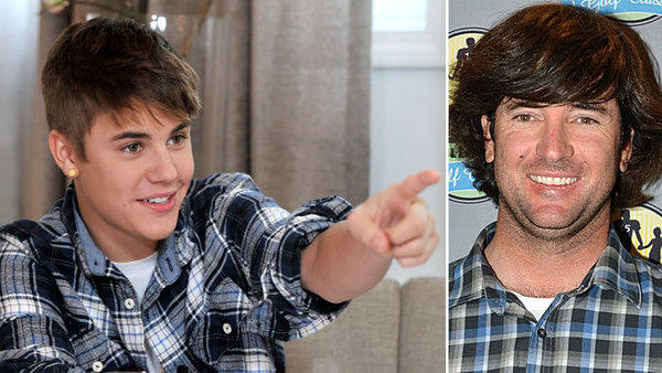 Justin Bieber and Bubba Watson, BFFs? The Masters golf champ, right, says the Biebs is the only big name he talked to after his win.