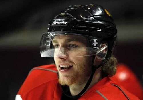 Chicago Blackhawks' Patrick Kane during practice at the United Center in Chicago, IL on Tuesday, June 8, 2010, before leaving for Philadelphia and Game 6 of the NHL Stanley Cup Finals.