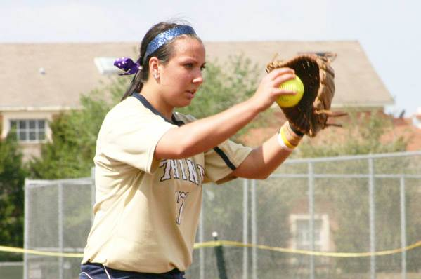 Petoskey graduate Andi Gasco, the top pitcher at Trine (Ind.) University, was named the Michigan Intercollegiate Athletic Association pitcher of the week for the second time this season.