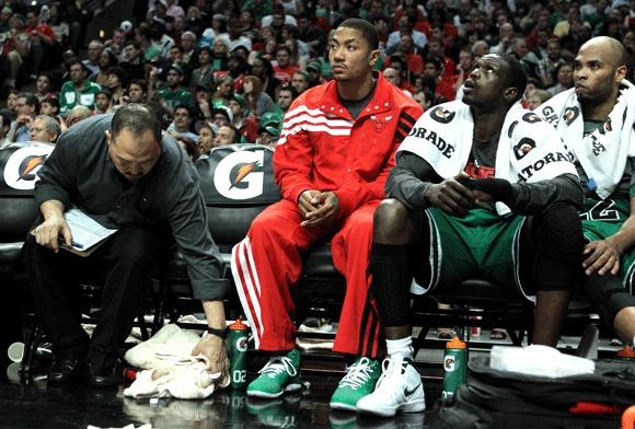 Injuries have kept Derrick Rose on the Bulls' bench often this season.