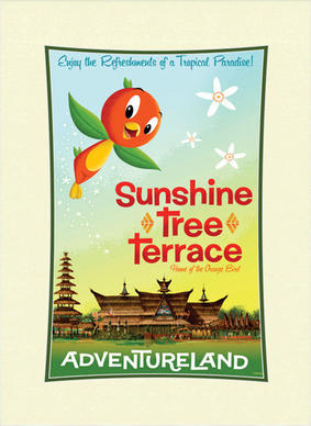 The Orange Bird character that appeared at Walt Disney World's Magic Kingdom from 1971-1981 has returned to Adventureland.