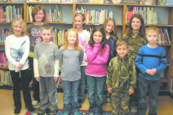 Cascade Elementary School celebrated the Character Counts! trait of fairness for the month of March on March 22. Students and their parents were invited to a luncheon with the counselor and could invite a friend. Students received a pin, certificate, pencil and sticker. Front row, from left, Eva Garner, Jacob Gardenhour, Quinn Conrey, Isabella Scott, Garrett Mazenko and Chris Richards. Back row, Lindsey Pague, Valerie Burk, Chloe Boswell and Madison Sigler. Missing from the picture are Brendan Scott and Barry Busta.