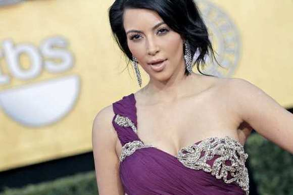 Kim Kardashian at the 17th Annual Screen Actors Guild Awards at the Shrine Auditorium in Los Angeles, CA on January 30, 2011.