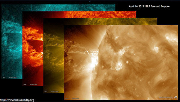A moderate-sized solar flare has sent matter hurtling toward NASA spacecraft.