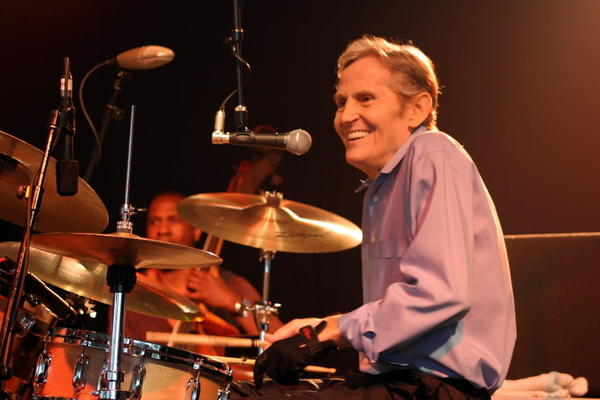 Levon Helm performs at the Bonnaroo Music and Arts Festival in Manchester, Tenn. in 2008.