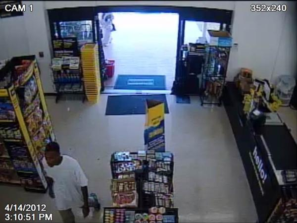 Palm Beach County Sheriff detectives are searching for a strong-arm robber who snatched a gold chain from around the neck a discount store customer, in Lake Worth.