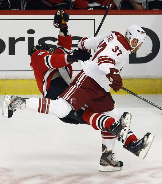 Raffi Torres delivered a questionable hit on Marian Hossa during Tuesday's Game 3.